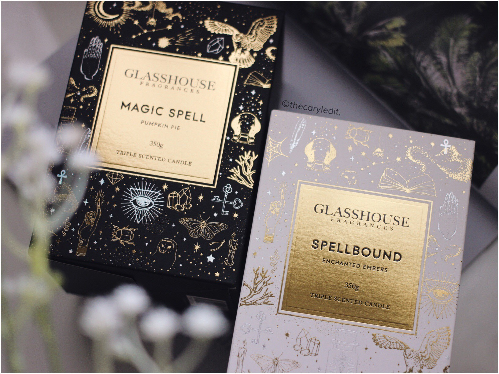 GLASSHOUSE FRAGRANCES: Dark Arts Duo Triple Scented Candles
